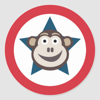 Super Monkey Stickers (circle)