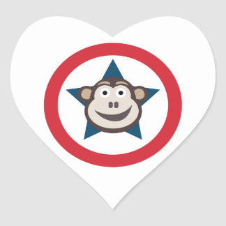 Super Monkey Stickers (Hearts)