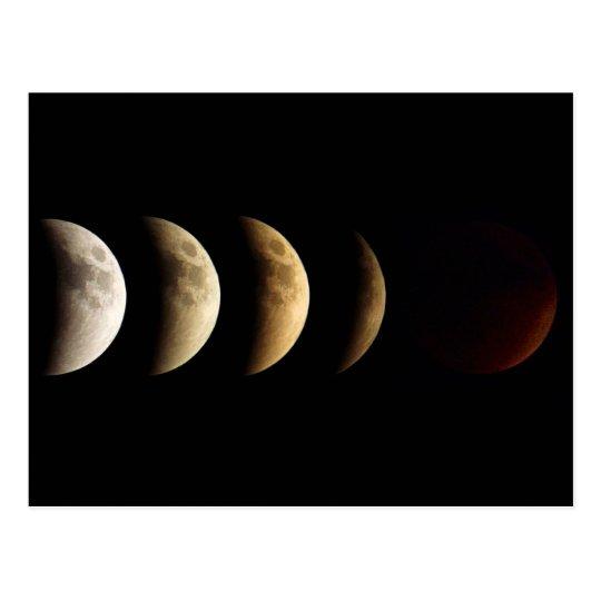 Super Moon, Blood Moon, Lunar Eclipse, 2015 Postcard
