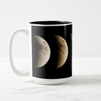 Super Moon, Blood Moon, Lunar Eclipse, 2015 Two-Tone Mug