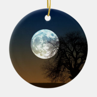Super moon christmas ornament