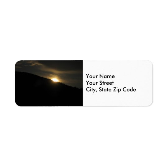 Super Moon over Washington Mountain address label