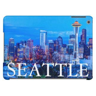 Super Moon rising near Seattle skyline iPad Air Case