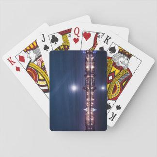 Super moon rising over blue Kings Lynn Poker Deck