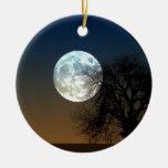 Super moon round ceramic decoration