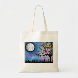 Super Moon & Tree Landscape