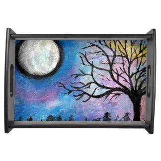 Super Moon & Tree Landscape Serving Tray