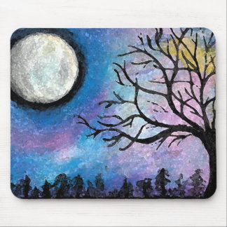 Super Moon & Tree Mouse Mat