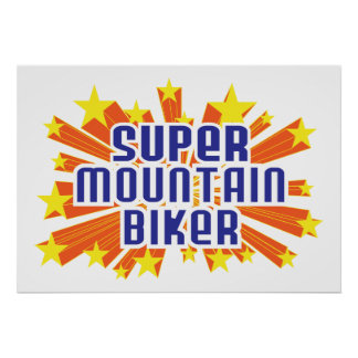 Super Mountain Biker Print