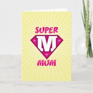 SUPER MUM CARD