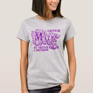 Super Mum decorative purple kids names top