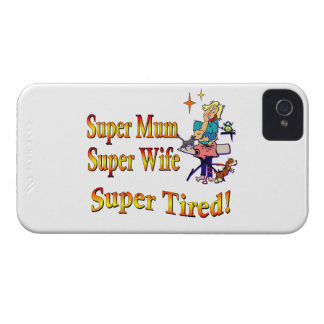 Super Mum Wife Tired Design for Busy Mothers Case-Mate Blackberry Case