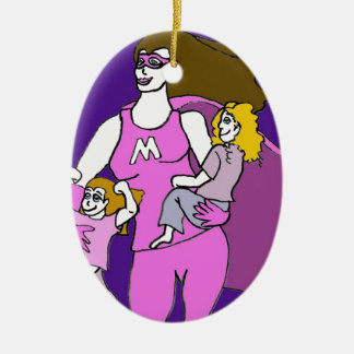 Super Mummy Christmas Ornament