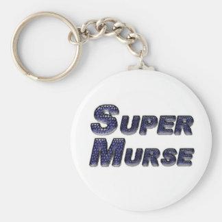 Super Murse Basic Round Button Key Ring