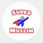 Super Muslim Round Stickers