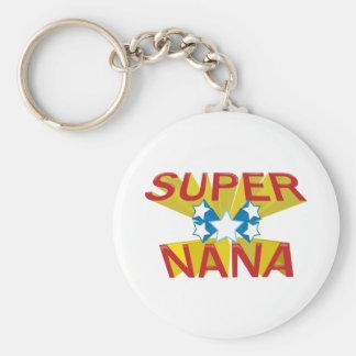 SUPER NANA BASIC ROUND BUTTON KEY RING