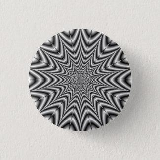 Super Nova in Black and White 3 Cm Round Badge