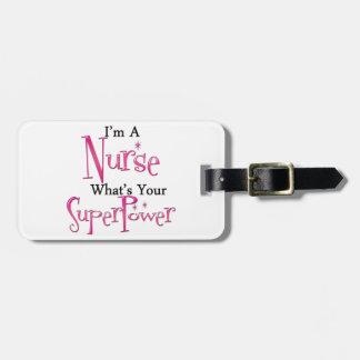 Super Nurse Luggage Tag