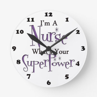 Super Nurse Round Clock
