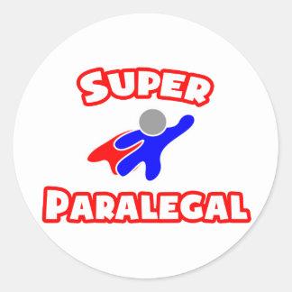 Super Paralegal Round Sticker
