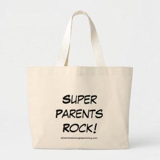 Super Parents Rock Tote Canvas Bag