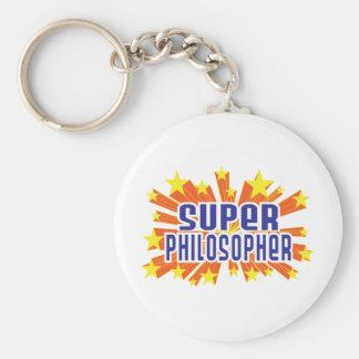 Super Philosopher Basic Round Button Key Ring