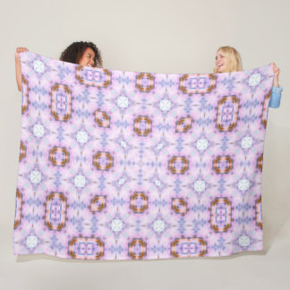 Super Pink Rock Star Girl Pattern Quilt Fleece Blanket
