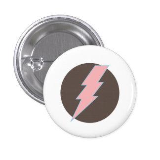 Super Pink Thunderbolt 3 Cm Round Badge