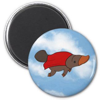 Super Platypus 6 Cm Round Magnet