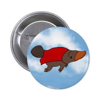 Super Platypus Pinback 6 Cm Round Badge