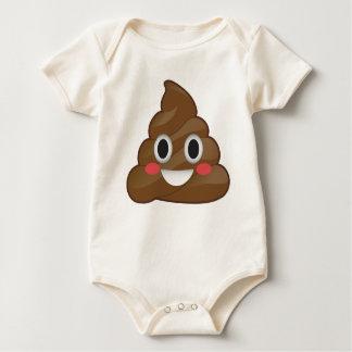 Super Pooper Emoji Poo Organic Baby Suit Baby Bodysuit