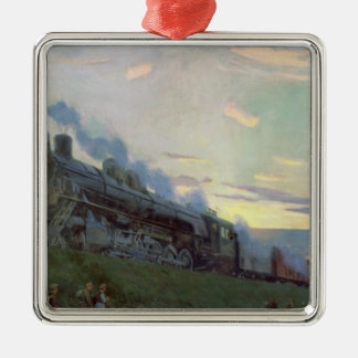 Super power steam engine, 1935 christmas ornament