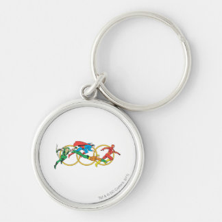 Super Powers™  Collection 11 Silver-Colored Round Key Ring