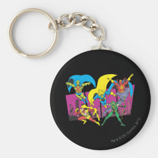 Super Powers™ Collection 17 Basic Round Button Key Ring