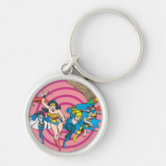 Super Powers™ Collection 8 Silver-Colored Round Key Ring