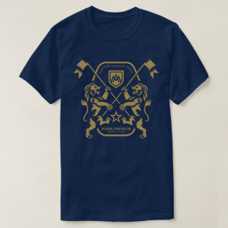 Super Premium Dual Lion Men's (Navy) T-Shirt
