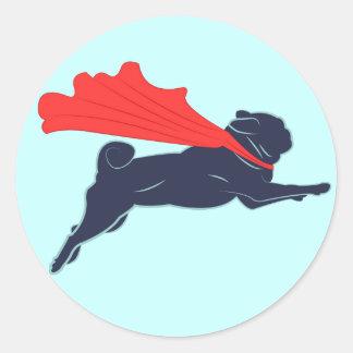 Super Pug Stickers