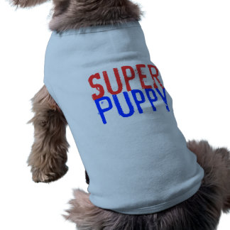 Super Puppy - Red and Blue Sleeveless Dog Shirt
