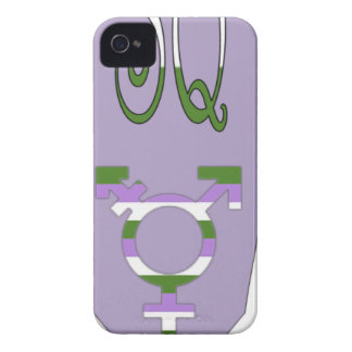 Super Queer Cape Transgender Symbol Case-Mate iPhone 4 Cases