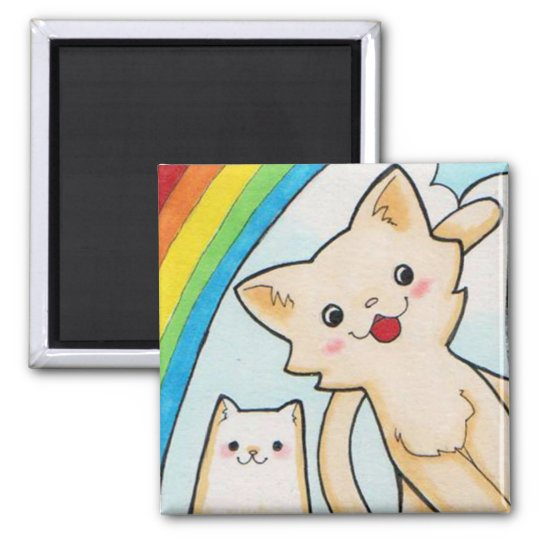 Super Rainbow Kittens Magnet