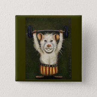 Super Rat 15 Cm Square Badge