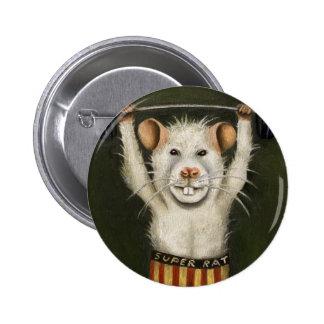 Super Rat 6 Cm Round Badge