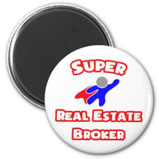 Super Real Estate Broker 6 Cm Round Magnet