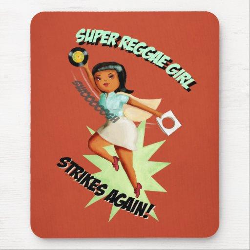 Super Reggae Girl Mouse Pads