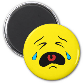 Super Sad Crying Face Emoji Magnet