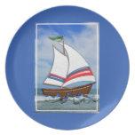 Super Sailboat on the High Sea