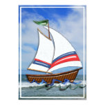 Super Sailboat on the High Sea Custom Invites