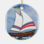 Super Sailboat on the High Sea Christmas Tree Ornaments