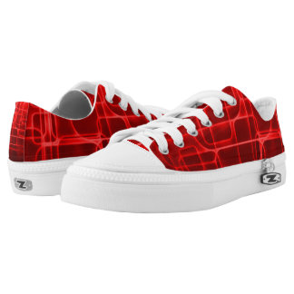 Super Saiyan Red Power Kickers Custom Low Top Zipz Printed Shoes