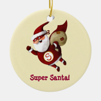 Super Santa Claus Christmas Ornament